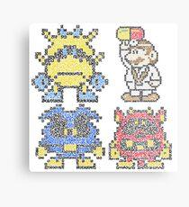 Doctor Mario & Virus Videogame Nintendo Metal Print