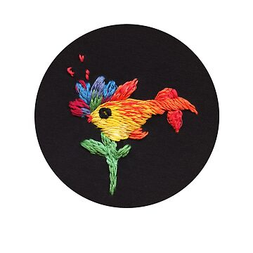 gold fish embroidery by embroiderrred