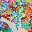 Southampton England City Map by Michael Tompsett