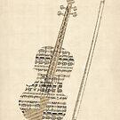 Violin Old Sheet Music by Michael Tompsett