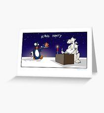 xmas party Greeting Card