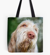 Orange and White Italian Spinone Dog Head Shot Tote Bag