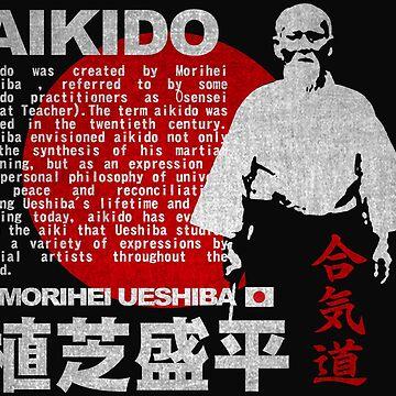 JAPAN AIKIDO MORIHEI UESHIBA by Realmendesign