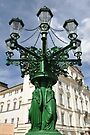 Prague lamppost by Marcel Ilie