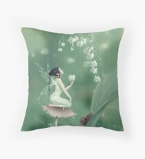 Lily of the Valley Flower Fairy Throw Pillow