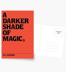 A Darker Shade of Magic: Typography Postcards