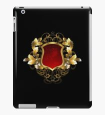 Red Shield with an Oak Branch iPad Case/Skin