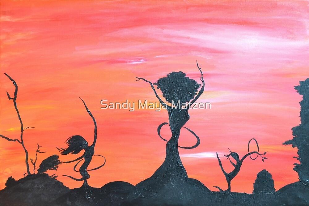 The hula trees by Sandy Maya Matzen