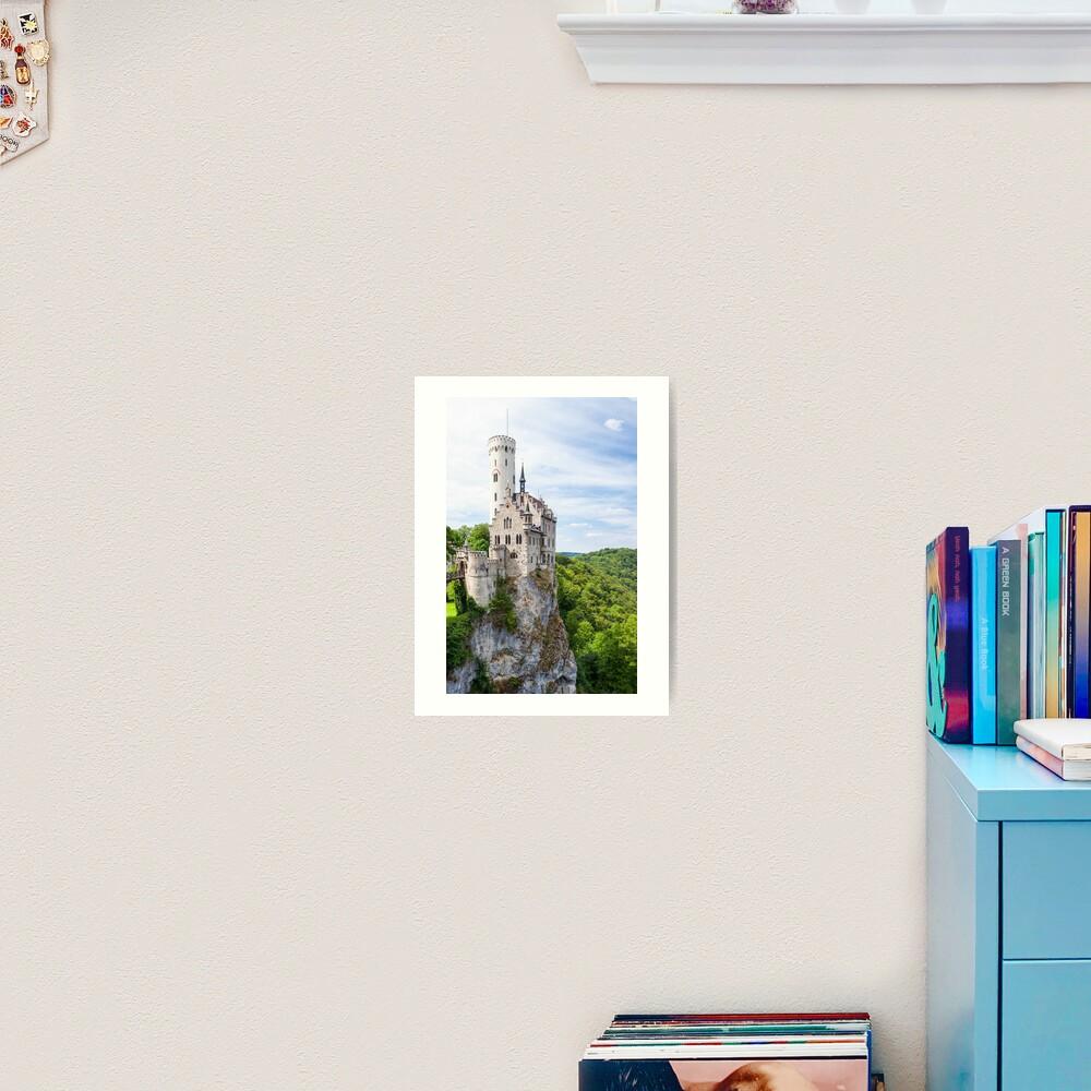 Lichtenstein castle in Germany Art Print