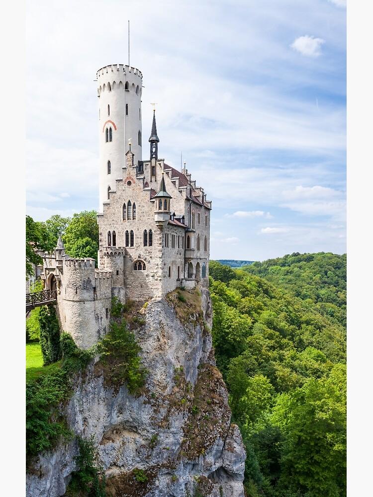 Lichtenstein castle in Germany by Juhku