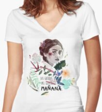 LILI by elenagarnu Fitted V-Neck T-Shirt