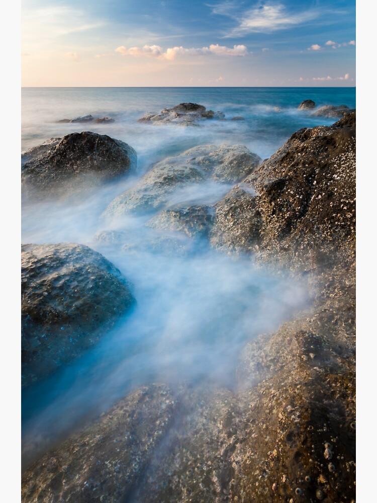 Waves and rocks long exposure by Juhku