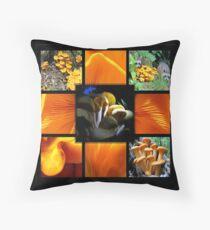 Jack-O-Lantern (Omphalotus olearius) Fungi Throw Pillow
