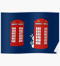 London Telephone Box and A Bunny Poster