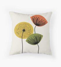 Mid Century Dandelions 02 Throw Pillow