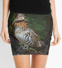 Ruffed Grouse - Algonquin Park, Canada Mini Skirt