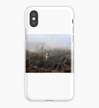 The rut is on! - White-tailed deer in fog iPhone Case/Skin