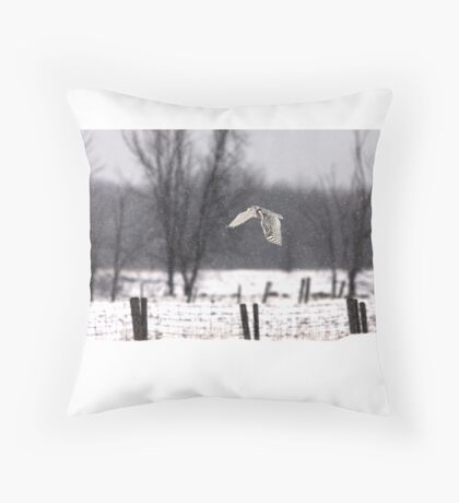 A snowy Snowy - Snowy Owl Throw Pillow