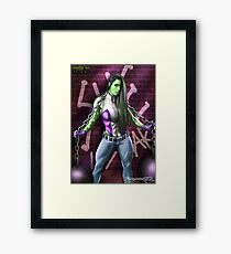 SHE HULK Framed Print