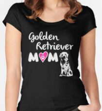 Golden Retriever Mom Women's Fitted Scoop T-Shirt