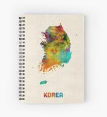 Korea-Aquarell-Karte Spiralblock