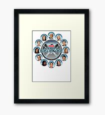 BBC Agents Of Science Framed Print