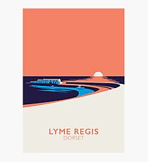 Lyme Regis Seascape - Portrait Photographic Print