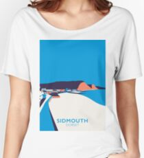 Sidmouth Seascape- Portrait Women's Relaxed Fit T-Shirt