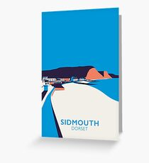 Sidmouth Seascape- Portrait Greeting Card