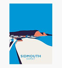 Sidmouth Seascape- Portrait Photographic Print