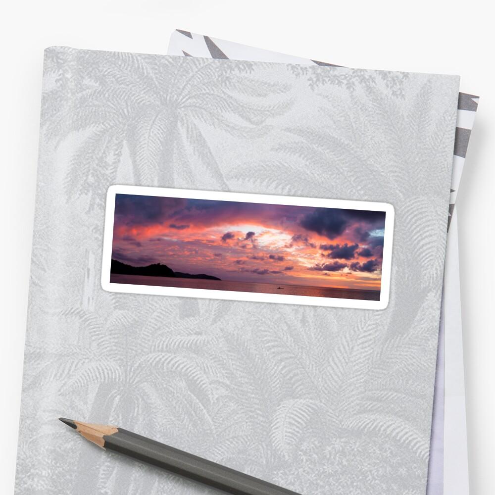 Beautiful vivid sunset Sticker