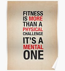 Fitness - Physical and Mental Challenge Poster