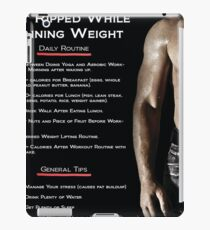 Get Ripped While Gaining Weight - Infographic iPad Case/Skin