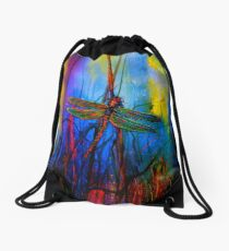 Early One Morning..Dragonfly Towards The Light #5 Drawstring Bag