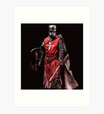 Crusader Warrior Art Print