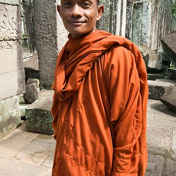 Monk in Cambodia by ccchan27