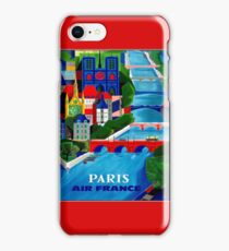 AIR FRANCE : Vintage Fly to Paris Advertising Print iPhone Case/Skin