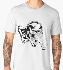 Venom Black and white art  Men's Premium T-Shirt