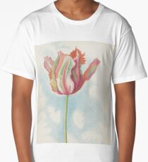 Joseph Stella 1877 - 1946 RED AND GREEN PARROT TULIP Long T-Shirt