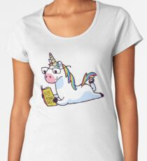 Unicorn Believe in Yourself Magically Fabulous II Women's Premium T-Shirt