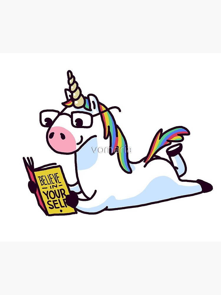 Unicorn Believe in Yourself Magically Fabulous II by vomaria