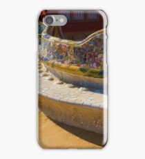 Gaudi's Park Guell Sinuous Curves - Impressions Of Barcelona iPhone Case/Skin