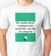 On Books - Mark Twain Unisex T-Shirt