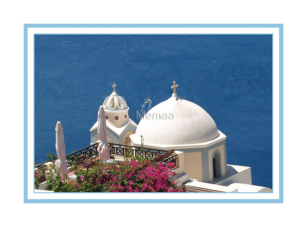 Blues and Whites of Santorini 2 by Memaa