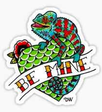Be Mine Panther Chameleon Sticker