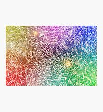 Colorful fireworks against dark sky Photographic Print