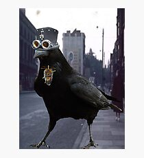 Steampunk Raven Photographic Print