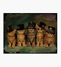 Steampunk Kittens Photographic Print