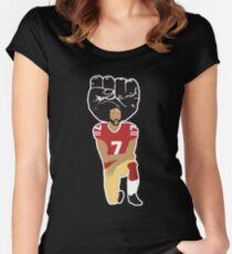 Colin Kaepernick Kneeling - I'm With Kap Women's Fitted Scoop T-Shirt