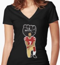 Colin Kaepernick Kneeling - I'm With Kap Women's Fitted V-Neck T-Shirt